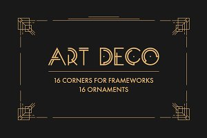 Art Deco Vector Elements
