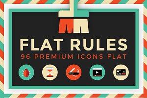 Flat Rules - 96 Premium Icons Flat