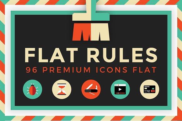 Flat Rules - 96 Premium Ico-Graphicriver中文最全的素材分享平台