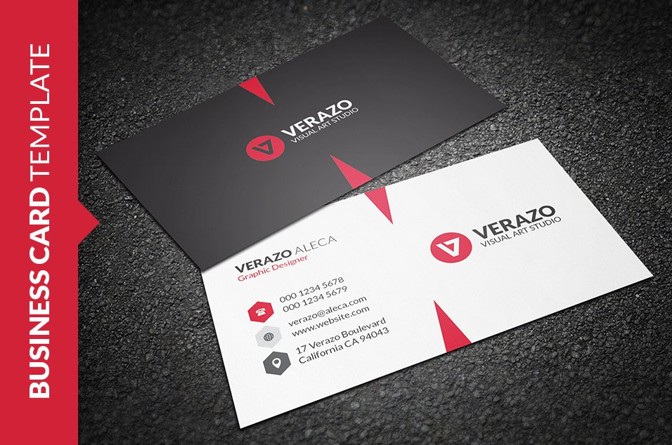 Clean & Modern Business Card ~ Business Card Templates ~ Creative ...