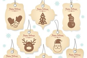 Christmas tag labels
