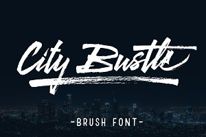 City Bustle brush font