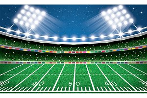 American Football Stadium. Arena.