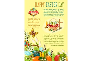 Easter Egg Hunt poster template for holiday design