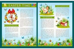 Easter Egg Hunt celebration brochure template