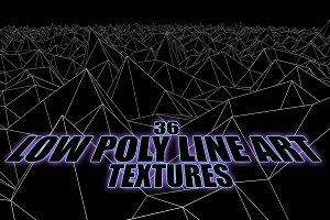 Low-Poly Line-Art Landscape-Textures