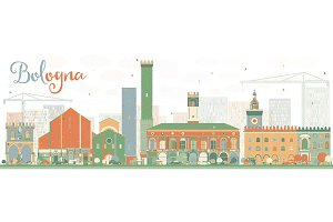 Abstract Bologna Skyline