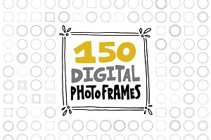 150 Digital Frames (EPS, PNG)