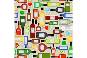 Alcohol bottles pattern