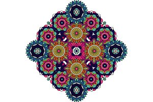 Colored mandala floral decorative element