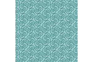 Blue pattern with linear swirls
