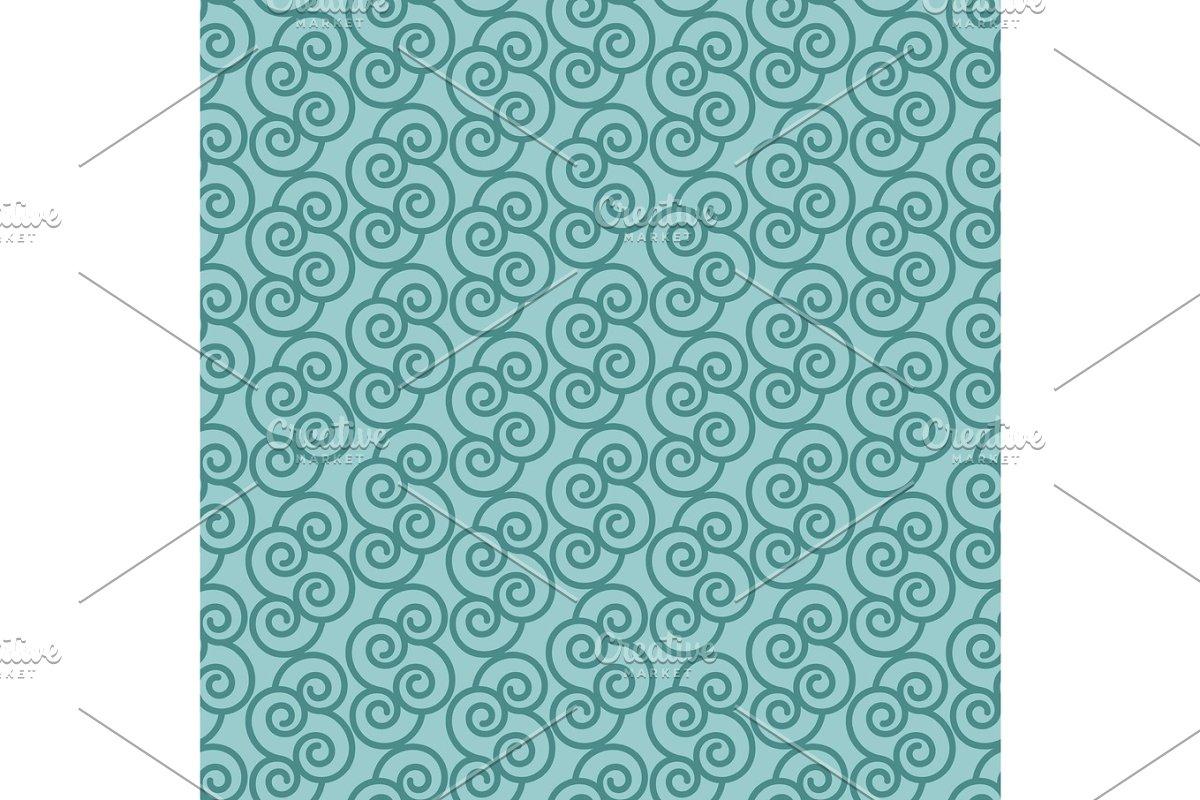 Blue pattern with linear swirls
