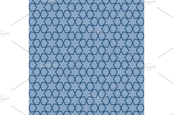 Blue geometric pattern with linear elements