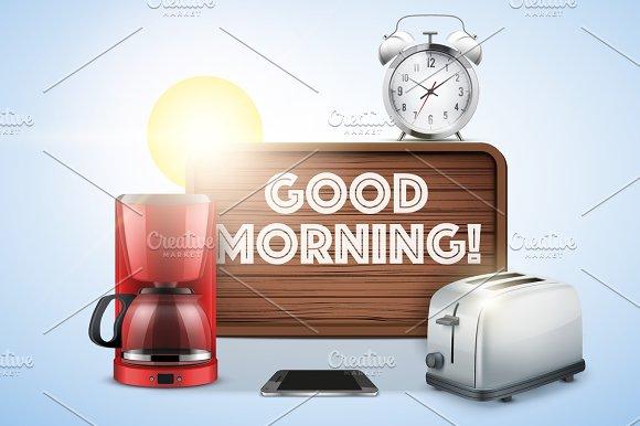 Good morning still life. in Illustrations