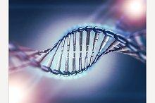 Digital illustration of a DNA model.