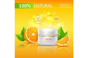 100% Natural Cream with Vitamin C Illustration