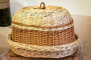 Wicker bread bin