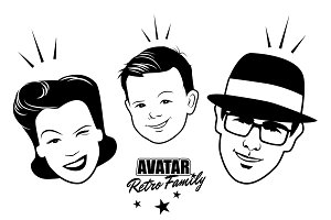 Avatar Retro Family