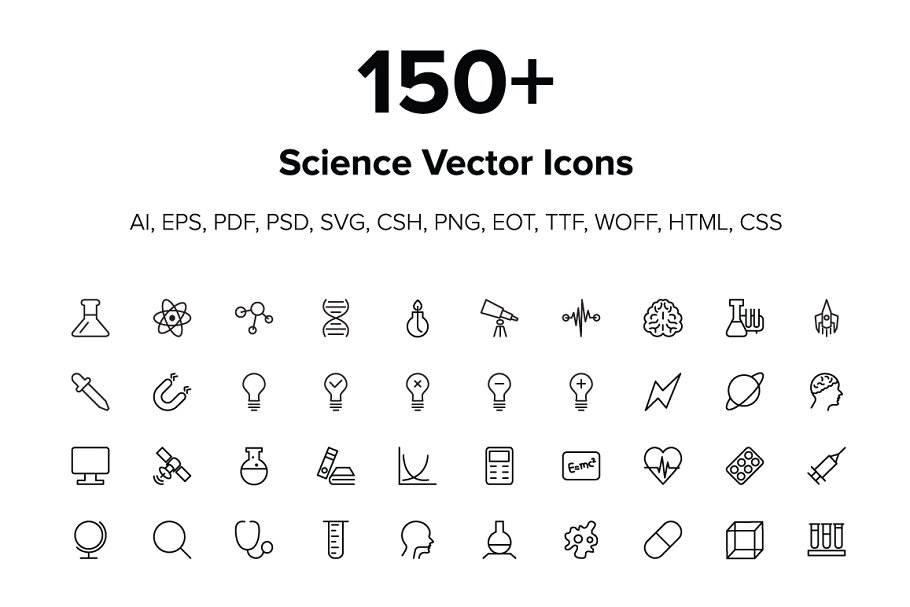 150+ Science Icons