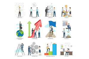 Successful Business Making Concept Vector Poster
