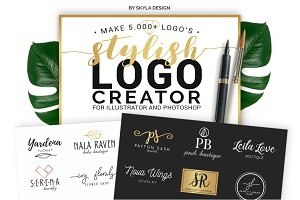 Stylish Premade Logo Creator Kit