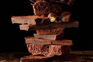 Stack dark chocolate