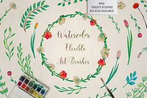 Watercolor Art & Pattern Brushes