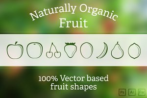 Fruit Vector shapes