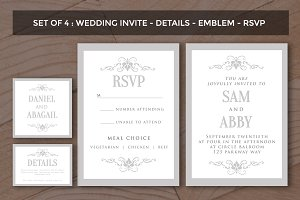 Wedding Invitation Template Pack