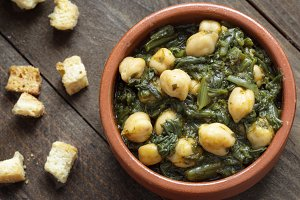 Spanish cuisine. Chickpea stew
