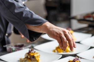 Chef prepares delicious meals