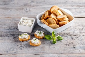 Tasty savory appetizers