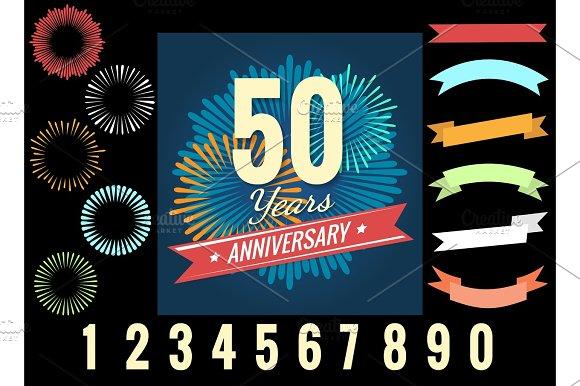 Anniversary Celebration Logo Elements