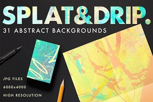 Splat & Drip Abstract Background