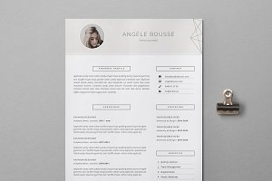 Stylish Resume Template / Angéle