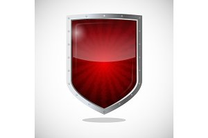 Protection armor shield concept. Security guardianship logotype