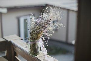 Dry lavender bouquet