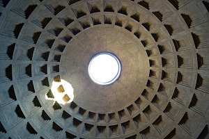 Internal part of dome in Pantheon