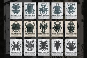 Inkblot Perception Flyer Template