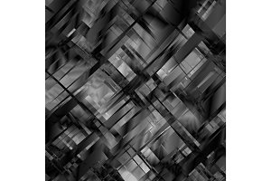 Vector abstract blackandwhite metal glitch background for design. Eps10