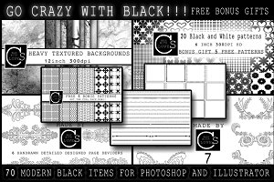 Go Crazy With Black Graphics Bundle!