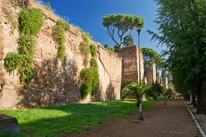 Aurelian Walls in Rome