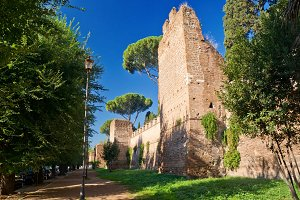The ancient Aurelian Walls