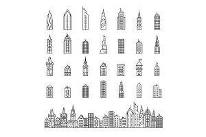 City builder vector illustration