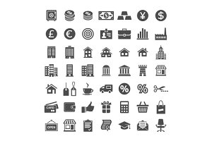 Icon set for website and app