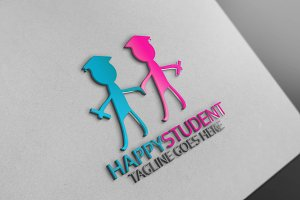 Happy student Logo