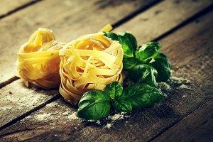 Beautiful colourful italian pasta