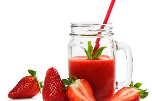 Detox strawberry smoothie.