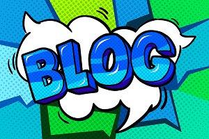 Concept of bloggimg.