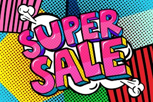 Super Sale Message.